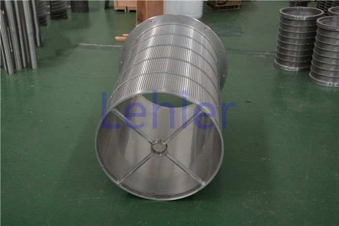 Slot Type Stainless Steel Filter Basket , Wire Cylinder Basket Perfect Roundness