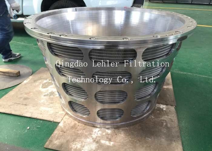 20um Centrifugal Machines Conical Wedge Wire Basket